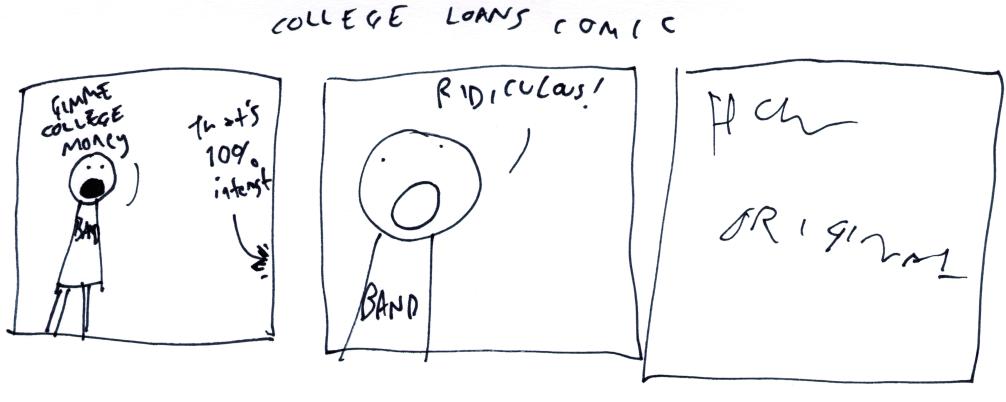 College Loans Comic