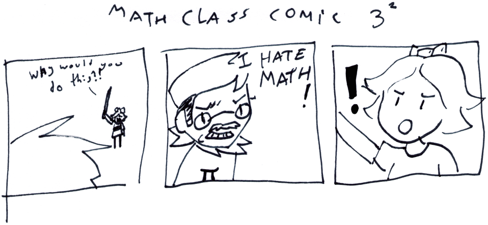 Math Class Comic 3²