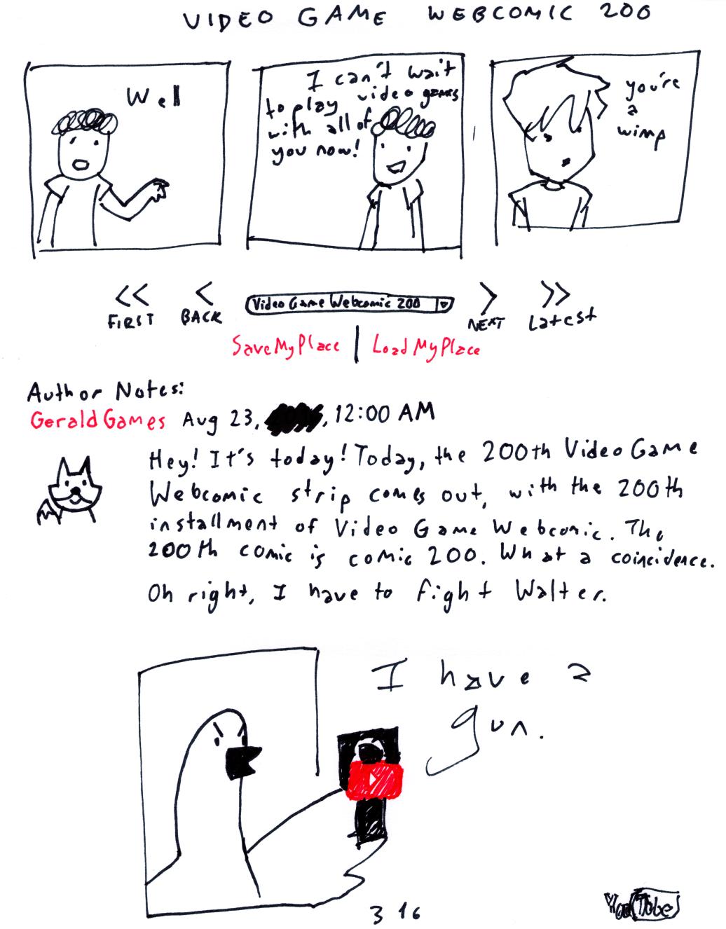 Video Game Webcomic 200